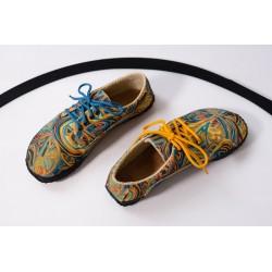 Čevlji Bare Sundara modni na vezalke mavrični