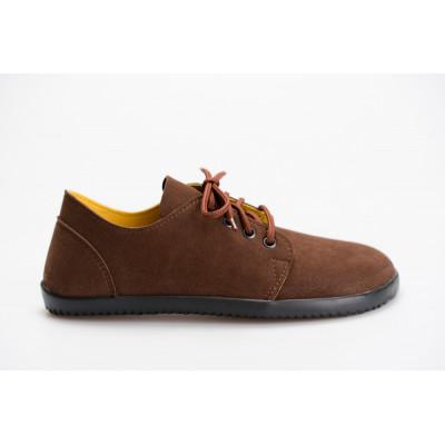 Čevlji Bare Bindu-2 semiš rjavi
