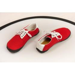 Čevlji Bare Sundara zračni na vezalke rdeči