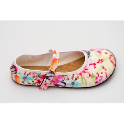 Čevlji Bare Ananda balerinke rožnate2