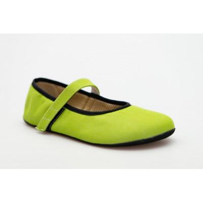 Čevlji Bare Ananda balerinke Sunbrella® zelene