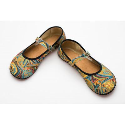 Čevlji Bare Ananda balerinke mavrica