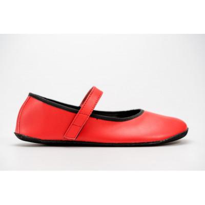 Čevlji Bare Ananda balerinke rdeče