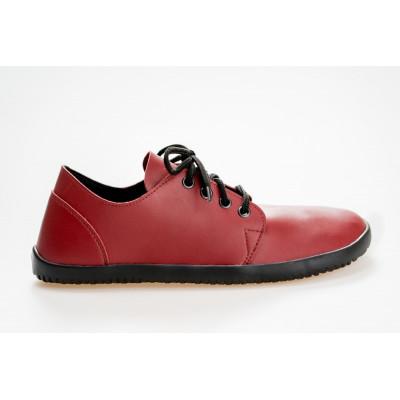 Čevlji Bare Bindu-2 burgundy rdeči