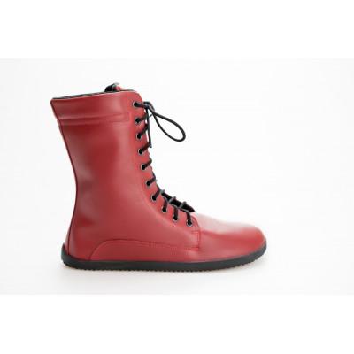 Čevlji Bare Jaya škornji burgundy rdeči