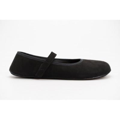 Čevlji Bare Ananda balerinke semiš črne