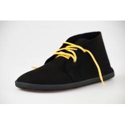 Čevlji Bare Bindu gležnarji semiš črni