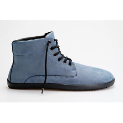 Čevlji Bare Sundara gležnarji z membrano nubuk semiš modri