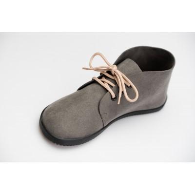 Čevlji Bare Bindu gležnarji semiš sivi