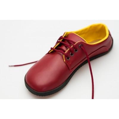 Čevlji Bare Sundara na vezalke Lifo+ rdeči