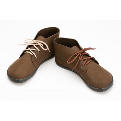 Čevlji gležnarji semiš rjavi (Bindu)