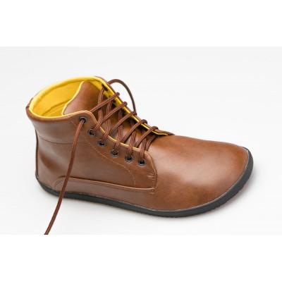 Čevlji Bare Sundara gležnarji Lifo+ svetlo rjavi