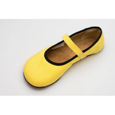 Čevlji Bare Ananda balerinke Sunbrella® rumene