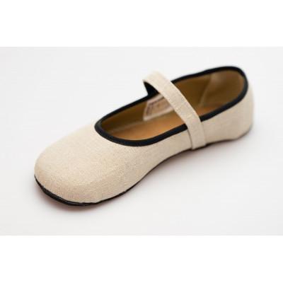 Čevlji Bare Ananda balerinke lan natur
