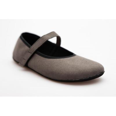 Čevlji Bare Ananda balerinke semiš sive