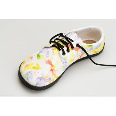 Čevlji Bare Sundara na vezalke Lifo+ rožnati3