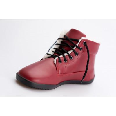 Čevlji Bare Sundara gležnarji zimski burgundy rdeči