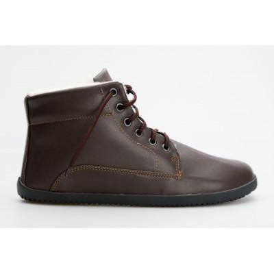 Čevlji Bare gležnarji zimski Lifo+ rjavi