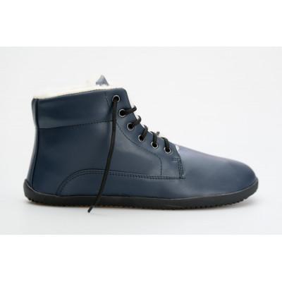 Čevlji Bare Sundara gležnarji zimski modri