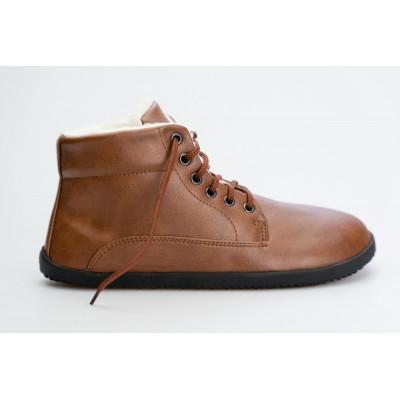 Čevlji Bare gležnarji zimski Lifo+ svetlo rjavi