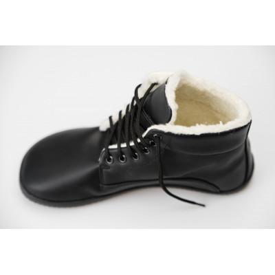 Čevlji Bare gležnarji zimski Lifo+ črni
