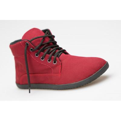 Čevlji Bare Sundara Sunbrella® gležnarji z membrano burgundy rdeči